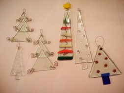 Fused Glass Charistmas decoratiopns