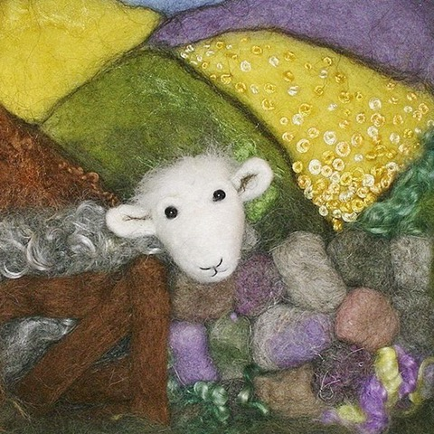 Needle felted picture workshop