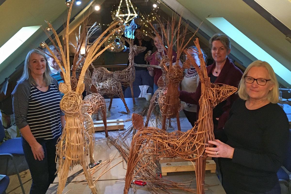 Willow craft at Blacksmith Shop Crafts