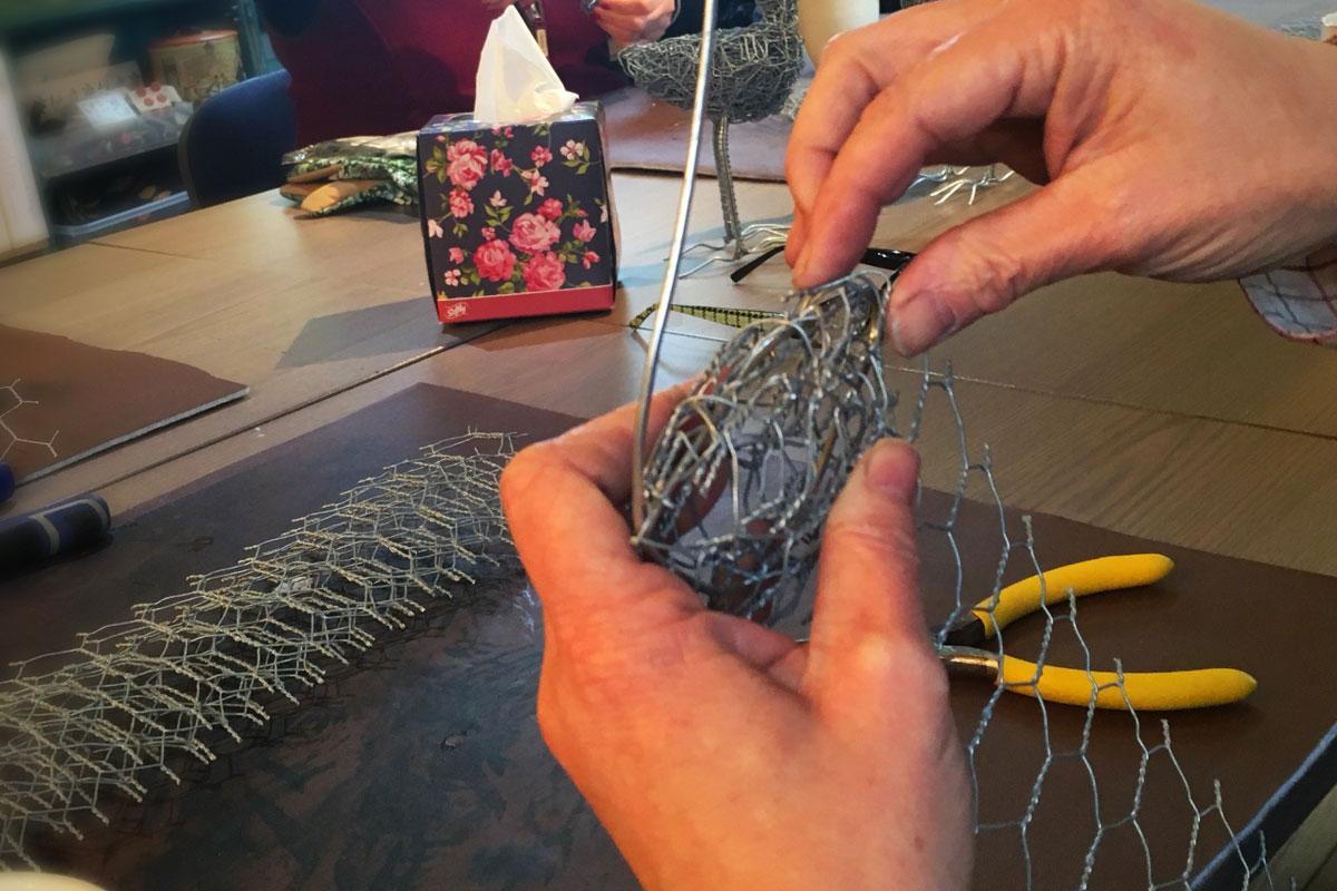 Wire craft workshop at Blacksmith Shop Crafts